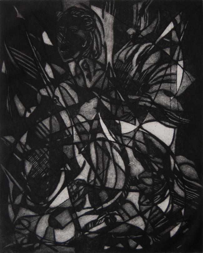 Manera negra Medida de la placa: 46x37 cm  Medida total del papel: 78x54 cm  Técnica: Manera Negra  Edición: 30 grabados numerados $18,560 MXN