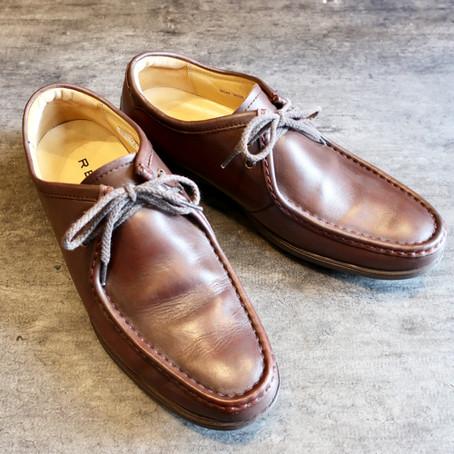 靴修理:色がハゲてしまった靴の色補修です