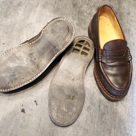 靴修理:剥がれてしまったソールの接着