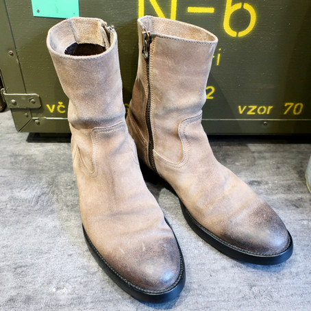 靴修理:ブッテロのハーフソール