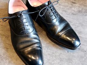 靴修理:ビジネスシューズのハーフソール修理
