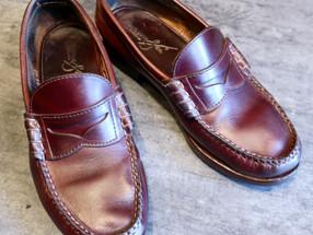 靴修理:ローファーの全体補修メンテナンス