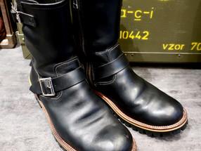 靴修理:エンジニアブーツのオールソール [Vibram #100 タンクソール]
