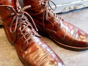 靴修理:くたくたブーツが蘇りました