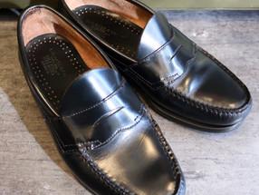靴修理:Bassローファーのかかと修理