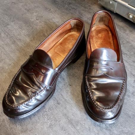 靴修理:35年前のコードバンを染め直しました