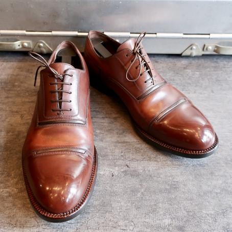 靴修理:ヴィトンのストレートチップをフルメンテナンスしました