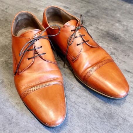 靴修理:ビジネスシューズのオールソール修理