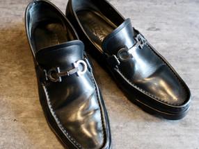 靴修理:フェラガモのビットローファーのオールソール修理です
