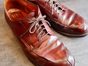 靴修理:オールデンのコードバン