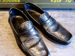 靴修理:ルイヴィトンのハーフソール