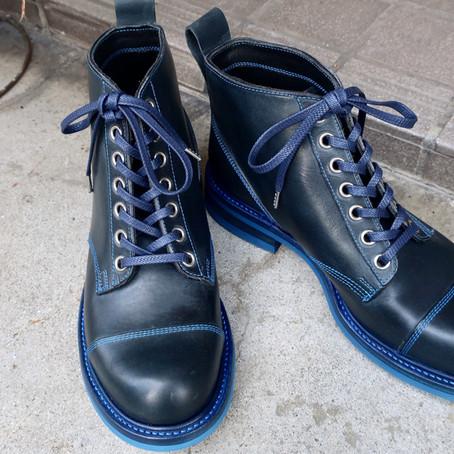 ネイビーのブーツ(size:M)