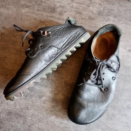 靴修理:ビルケンをシャークソール でオールソールカスタム