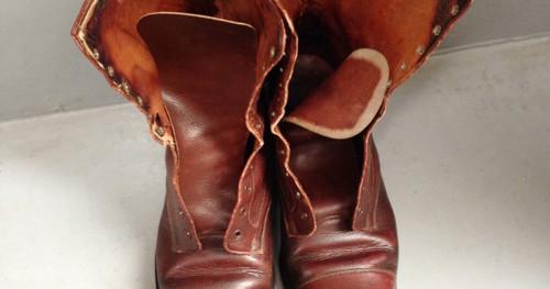 イギリス軍ブーツのライニング交換と再現修理