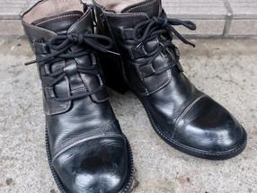 婦人靴の解体修理をしました。
