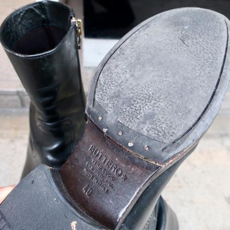 靴修理:ブッテロのブーツをオールソールしました