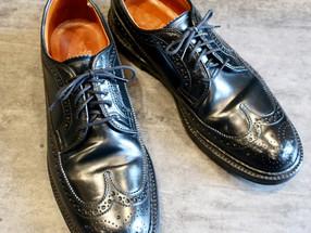 靴修理:コードバンのオールデンのかかと修理と靴みがきです