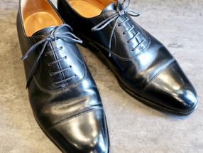 靴修理:ジョンロブのつま先補修です
