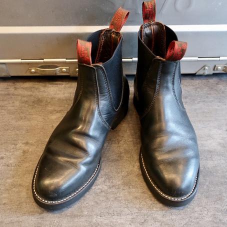 靴修理:サイドゴアブーツのサイドゴアゴムを交換しました