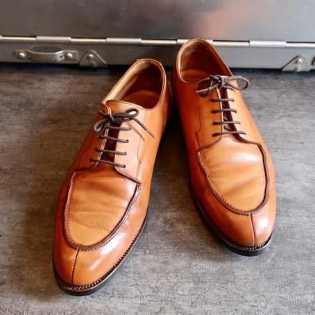 靴修理:クロケット&ジョーンズのレザーオールソール