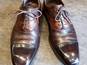 靴修理:ビジネスシューズの色補修