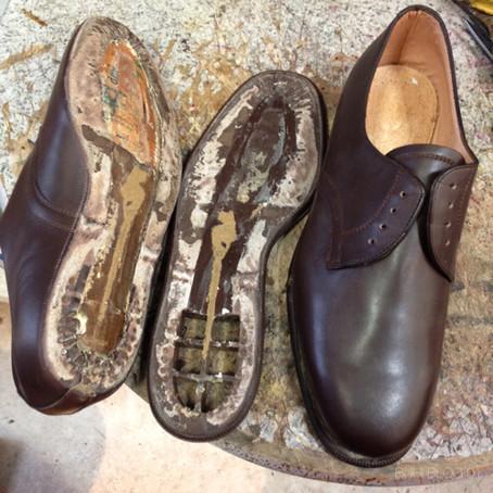 BUHIの特殊技術!ヴィンテージ靴の製法変更〜セメント製法をハンドソーンウェルトに!!