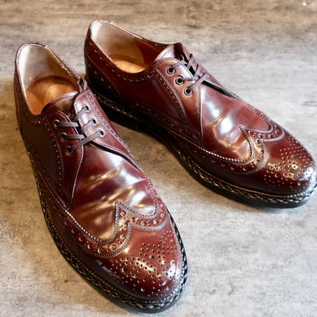 靴修理:ハインリッヒディンケラッカーのハーフソール修理