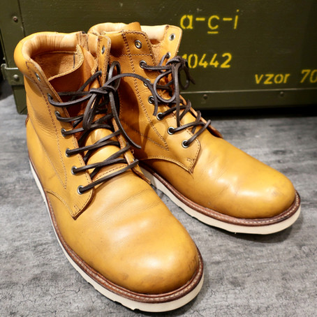 靴修理:プレーントゥブーツのオールソール [Vibram #4014]