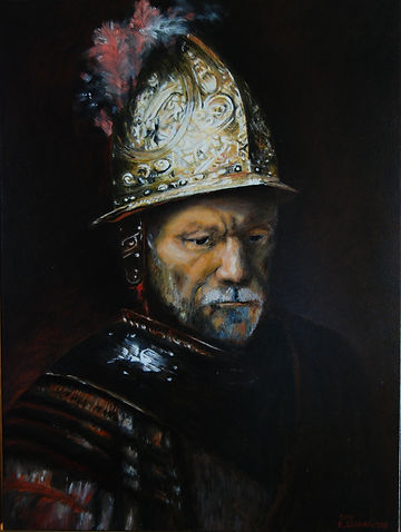 Copy of Oil Painting by Rembrandt: Man with the Golden Helmet