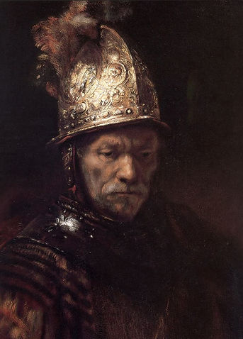 Oil Painting by Rembrandt: Man with the Golden Helmet