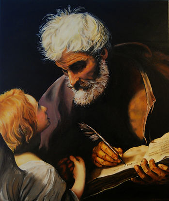 Guido Reni's St.Matthew and the Angel painted by Eric Sennhauser