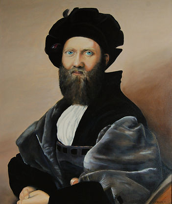 Copy of Raphael's Portrait of Baldassare Castiglione
