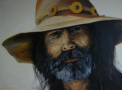 Painting of Cowboy by Eric Sennhauser