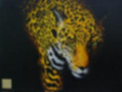 Acrylic Painting of Jaguar by Canadian Artist Eric S. Sennhauser