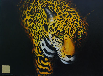 Acrylic Painting of Jaguar by Canadian Artist Eric S. Sennhauser
