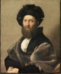 Oil Painting by Raphael: Portrait of Baldassare Castiglione