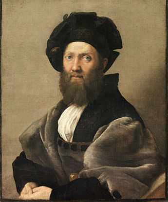 Oil Painting by Raphael: Portrait of Baldassare Castiglione