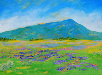 Impressionist Landscape Acrylic Painting by Canadian Artist Eric S. Sennhauser
