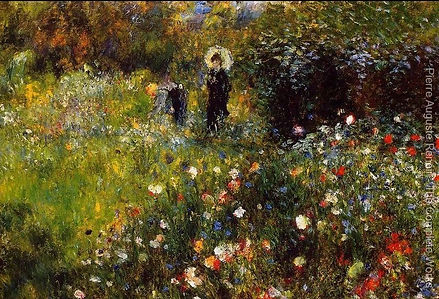 Oil Painting by Pierre-Auguste Renoir: Summer Landscape