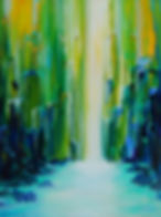 Waterfall Oil Painting by Canadian Artist Eric S. Sennhauser