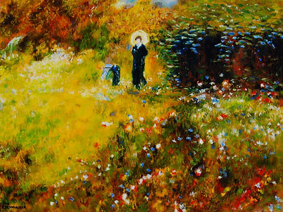 Copy of Oil Painting by Pierre-Auguste Renoir: Summer Landscape