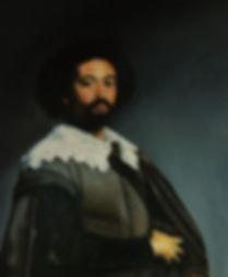 Copy of Oil Painting by Velasquez: Portrait of Juan de Pareja