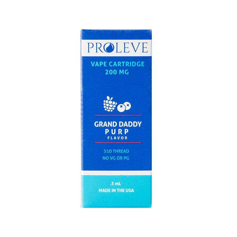 Proleve 200mg CBD CCELL Vape Cartridge Grand Daddy Purp