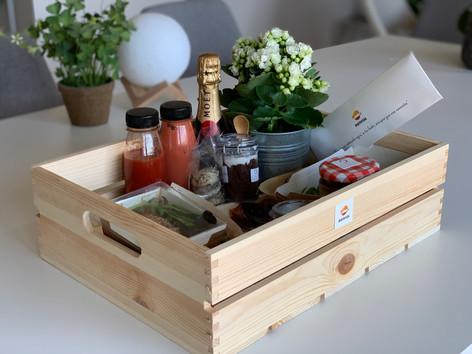 Kit de catering para eventos virtuales online a domicilio