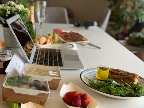 Cajas de catering gourmet a domicilio para navidad