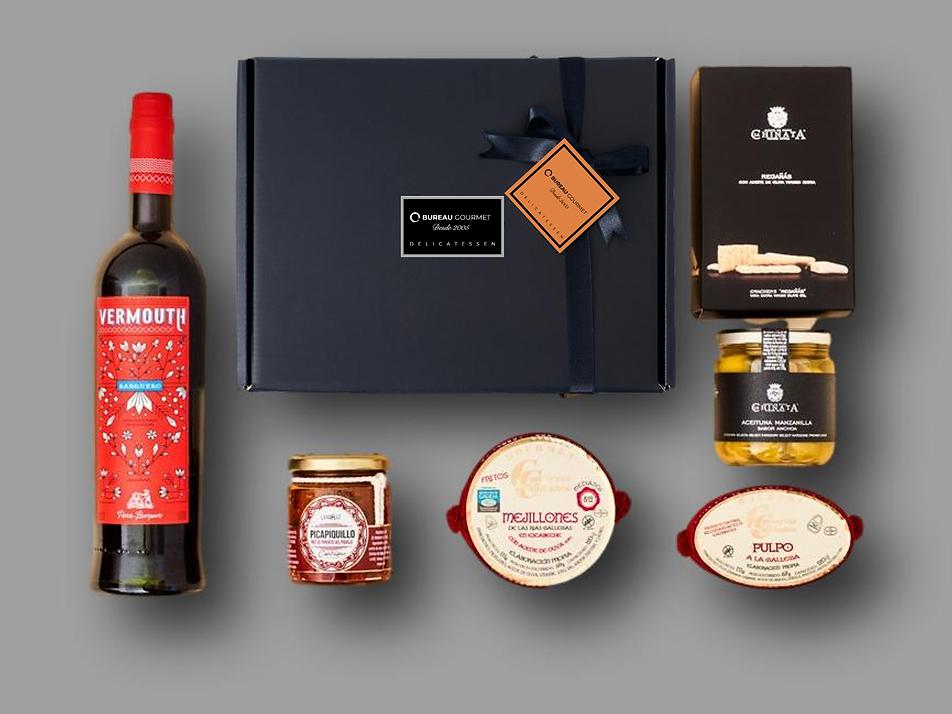 caja gourmet para evento virtual