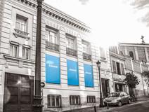Fachada corporativa para eventos. Evento Banco Sabadell