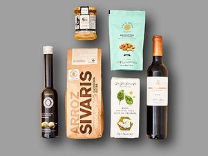 Cesta gourmet con vino par eventos virtu