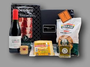 cesta clasica jamon queso-vino a domicil