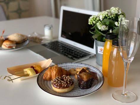 Kit de Catering para eventos virtuales online de empresa